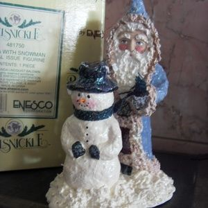 Belsnickle Santa with Snowman